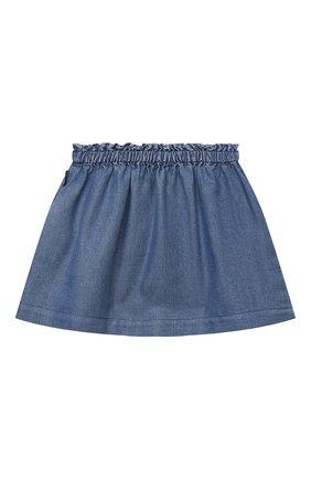 Детская юбка MOSCHINO синего цвета, арт. MDJ00Z/L0E05 | Фото 2 (Материал внешний: Лиоцелл; Ростовка одежда: 12 мес | 80 см, 18 мес | 86 см, 24 мес | 92 см, 36 мес | 98 см, 9 мес | 74 см)