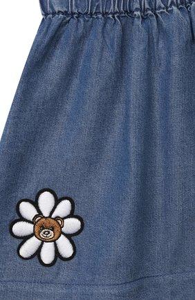 Детская юбка MOSCHINO синего цвета, арт. MDJ00Z/L0E05   Фото 3