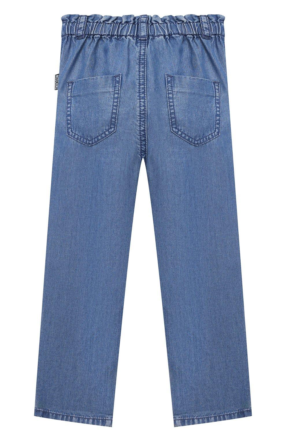 Детские брюки MOSCHINO синего цвета, арт. MDP02L/L0E05 | Фото 2