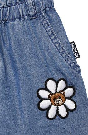 Детские брюки MOSCHINO синего цвета, арт. MDP02L/L0E05 | Фото 3