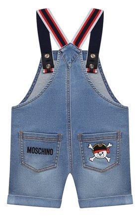 Детский джинсовый комбинезон MOSCHINO синего цвета, арт. MUQ00D/LDE03 | Фото 2