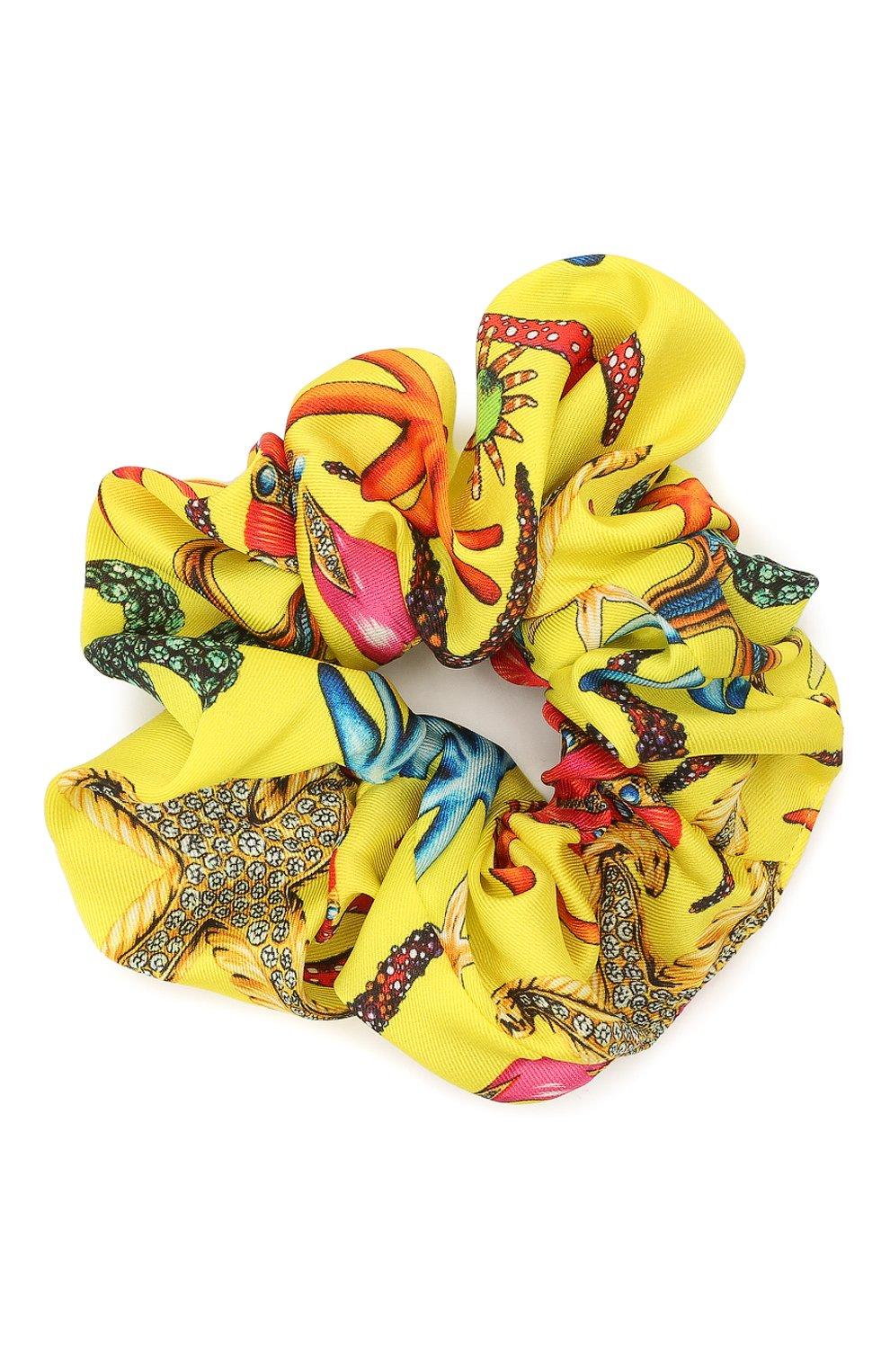 Женская резинка для волос VERSACE желтого цвета, арт. IELA002/1F01255 | Фото 1