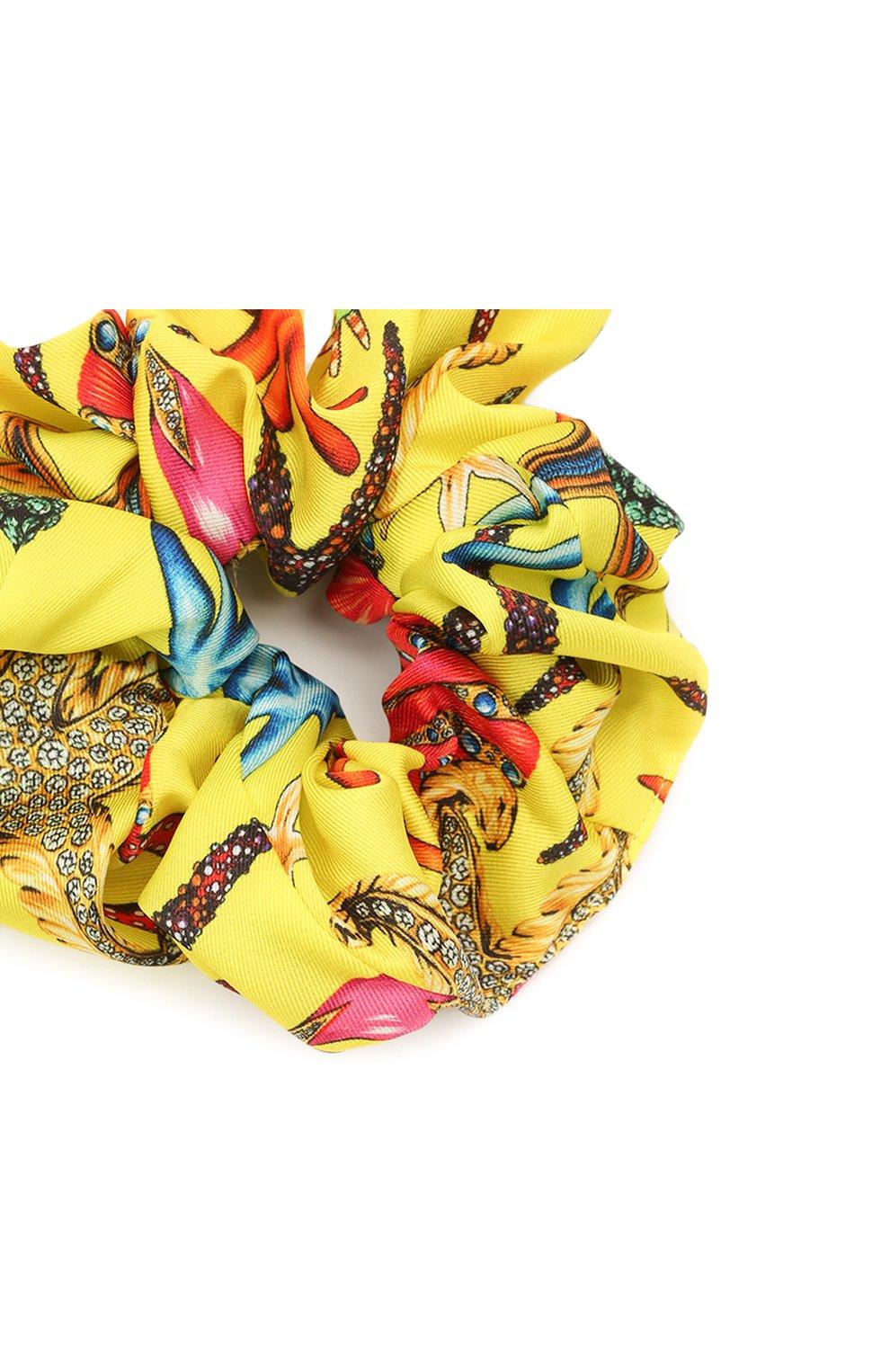 Женская резинка для волос VERSACE желтого цвета, арт. IELA002/1F01255 | Фото 2