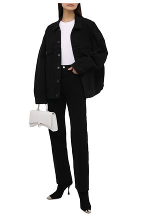 Женские замшевые ботильоны sr twenty metal SERGIO ROSSI черного цвета, арт. A93050-MCAZ01 | Фото 2