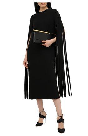Женские текстильные туфли CASADEI черного цвета, арт. 1H866S100HC12659000 | Фото 2