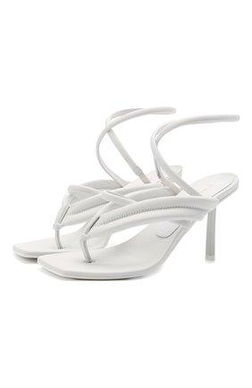 Женские кожаные босоножки LE SILLA белого цвета, арт. 5143S080H1PPCHI   Фото 1