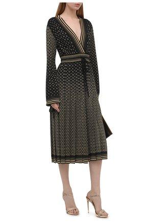 Женские кожаные босоножки divina LE SILLA золотого цвета, арт. 8643S100R3PPBUR   Фото 2