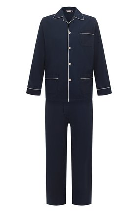 Мужская хлопковая пижама DEREK ROSE темно-синего цвета, арт. 5005-BALM003 | Фото 1