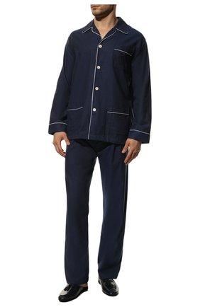 Мужская хлопковая пижама DEREK ROSE темно-синего цвета, арт. 5005-BALM003 | Фото 2