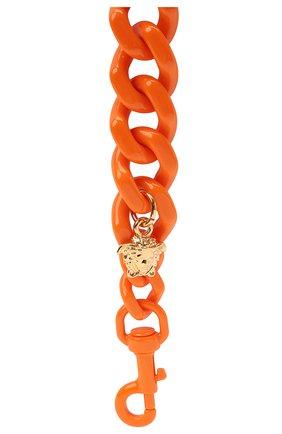 Женские ремень для сумки la medusa VERSACE оранжевого цвета, арт. DP3I149/D2ABS   Фото 2 (Ошибки технического описания: Нет глубины, Нет высоты; Материал: Пластик; Размер: mini; Кросс-КТ: ремень-сумка)