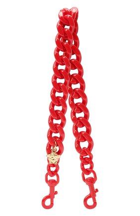 Женские ремень для сумки la medusa VERSACE красного цвета, арт. DP3I149/D2ABS | Фото 1 (Материал: Пластик; Ошибки технического описания: Нет глубины, Нет высоты; Размер: mini; Кросс-КТ: ремень-сумка)