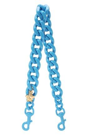Женские ремень для сумки la medusa VERSACE синего цвета, арт. DP3I149/D2ABS   Фото 1