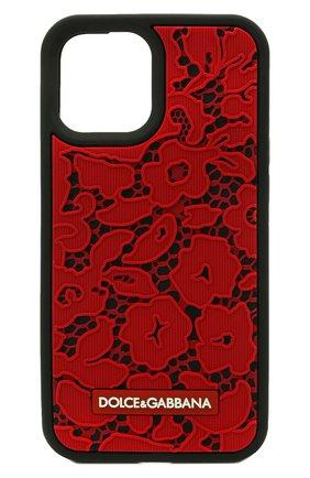 Чехол для iphone 12/12 pro DOLCE & GABBANA красного цвета, арт. BI2907/A0700 | Фото 1