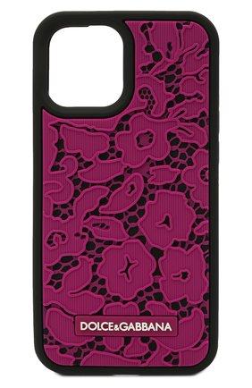 Чехол для iphone 12 pro max DOLCE & GABBANA фуксия цвета, арт. BI2908/A0700 | Фото 1