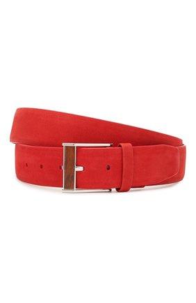 Мужской кожаный ремень ZILLI красного цвета, арт. MJL-CLAQE-01980/0057/115-120 | Фото 1