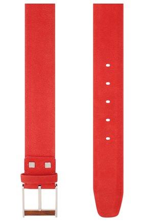 Мужской кожаный ремень ZILLI красного цвета, арт. MJL-CLAQE-01980/0057/115-120 | Фото 2