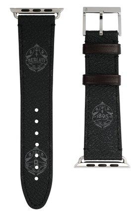 Ремешок для apple watch 44mm BERLUTI черного цвета, арт. X217143 | Фото 1