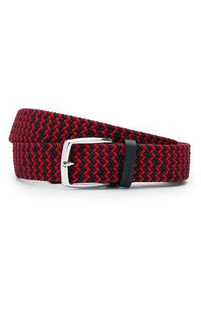 Мужской комбинированный ремень PAUL&SHARK красного цвета, арт. 21416003/GSJ | Фото 1