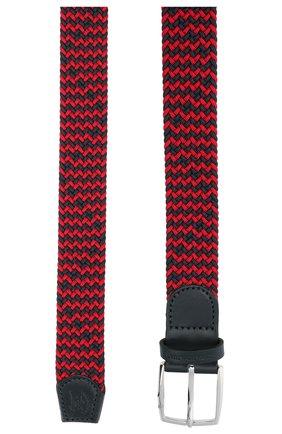 Мужской комбинированный ремень PAUL&SHARK красного цвета, арт. 21416003/GSJ | Фото 2