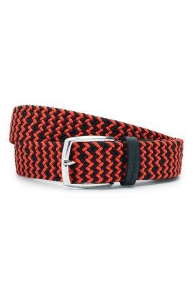 Мужской комбинированный ремень PAUL&SHARK оранжевого цвета, арт. 21416003/GSJ | Фото 1