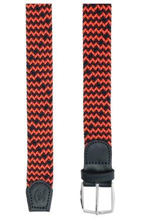 Мужской комбинированный ремень PAUL&SHARK оранжевого цвета, арт. 21416003/GSJ | Фото 2
