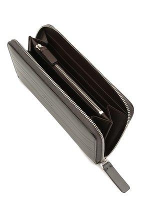 Мужской кожаное портмоне BRIONI серого цвета, арт. 0HTA0L/P9721   Фото 3 (Материал: Кожа)