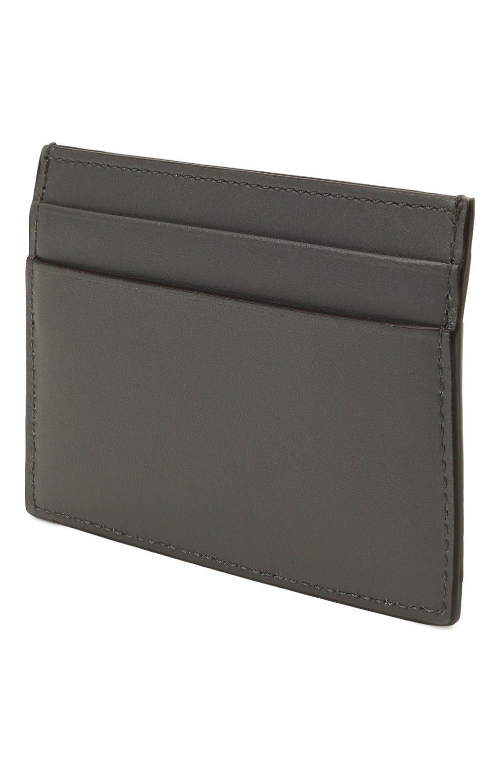 Мужской кожаный футляр для кредитных карт BRIONI серого цвета, арт. 0HSU0L/P9721 | Фото 2 (Материал: Кожа)