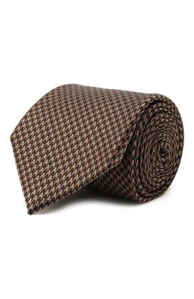 Мужской комплект из галстука и платка BRIONI светло-коричневого цвета, арт. 08A900/P0451 | Фото 1