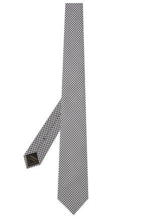 Мужской комплект из галстука и платка BRIONI темно-синего цвета, арт. 08A900/P0451   Фото 2 (Материал: Шелк, Текстиль)