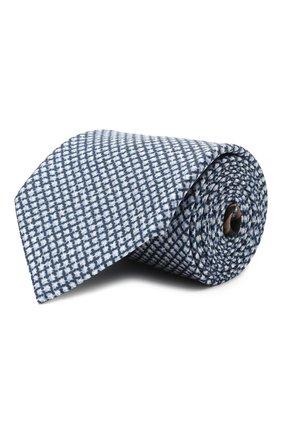 Мужской комплект из галстука и платка BRIONI голубого цвета, арт. 08A900/P040Z   Фото 1 (Материал: Текстиль, Шелк)