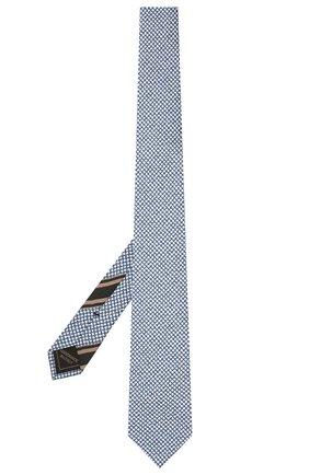Мужской комплект из галстука и платка BRIONI голубого цвета, арт. 08A900/P040Z   Фото 2 (Материал: Текстиль, Шелк)