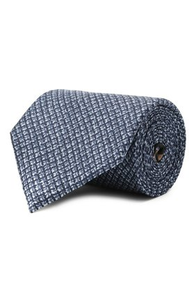 Мужской комплект из галстука и платка BRIONI синего цвета, арт. 08A900/P040Z   Фото 1 (Материал: Шелк, Текстиль)