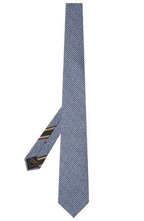 Мужской комплект из галстука и платка BRIONI синего цвета, арт. 08A900/P040Z   Фото 2 (Материал: Шелк, Текстиль)