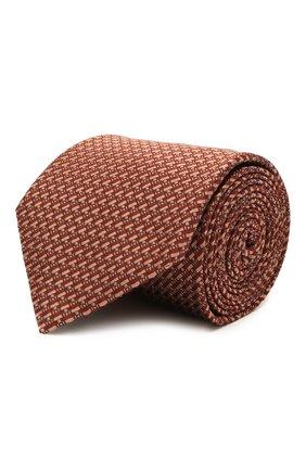Мужской шелковый галстук BRIONI красного цвета, арт. 062I00/P0435   Фото 1