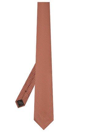 Мужской шелковый галстук BRIONI красного цвета, арт. 062I00/P0435   Фото 2