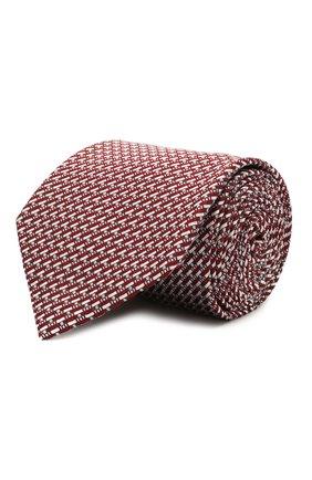 Мужской шелковый галстук BRIONI бордового цвета, арт. 062I00/P0435   Фото 1