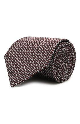 Мужской шелковый галстук BRIONI коричневого цвета, арт. 062I00/P0435 | Фото 1