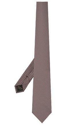 Мужской шелковый галстук BRIONI коричневого цвета, арт. 062I00/P0435 | Фото 2