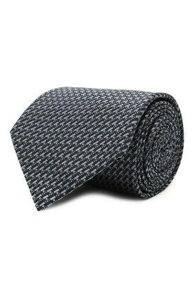 Мужской шелковый галстук BRIONI синего цвета, арт. 062I00/P0435 | Фото 1 (Материал: Шелк, Текстиль; Принт: С принтом)