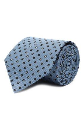 Мужской шелковый галстук BRIONI голубого цвета, арт. 061Q00/P040D   Фото 1