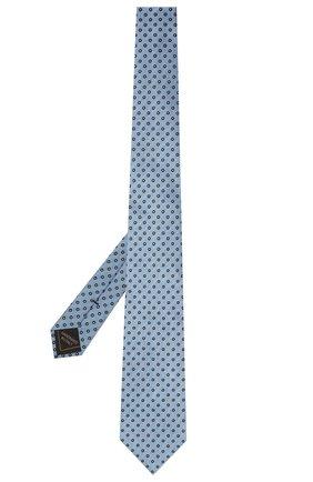 Мужской шелковый галстук BRIONI голубого цвета, арт. 061Q00/P040D   Фото 2