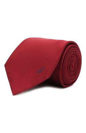 Мужской шелковый галстук BRIONI бордового цвета, арт. 061D00/0943C   Фото 1