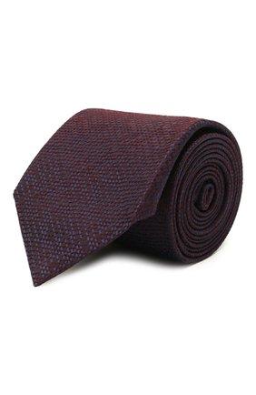 Мужской шелковый галстук BRIONI коричневого цвета, арт. 061A00/P0426 | Фото 1