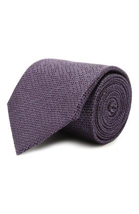 Мужской шелковый галстук BRIONI фиолетового цвета, арт. 061A00/P0426 | Фото 1 (Материал: Текстиль, Шелк; Принт: Без принта)