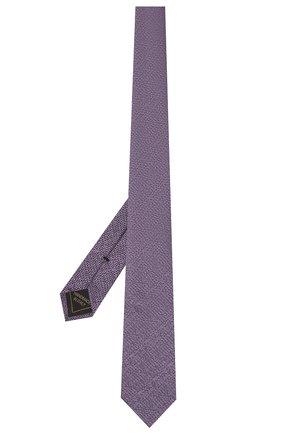 Мужской шелковый галстук BRIONI фиолетового цвета, арт. 061A00/P0426 | Фото 2 (Материал: Текстиль, Шелк; Принт: Без принта)