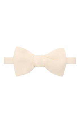 Мужской шелковый галстук-бабочка BRIONI белого цвета, арт. 01T200/P042U | Фото 1