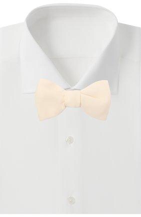 Мужской шелковый галстук-бабочка BRIONI белого цвета, арт. 01T200/P042U | Фото 2