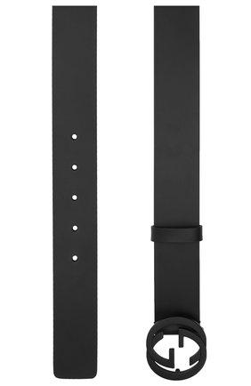 Мужской кожаный ремень GUCCI черного цвета, арт. 368186/BGH0V | Фото 2