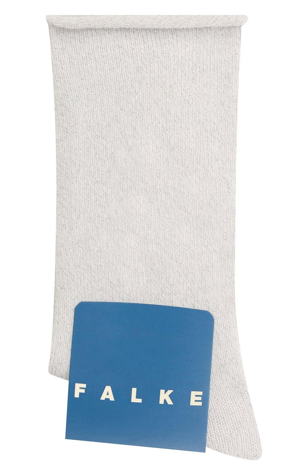 Детские носки FALKE белого цвета, арт. 12174.   Фото 1 (Материал: Текстиль, Хлопок)