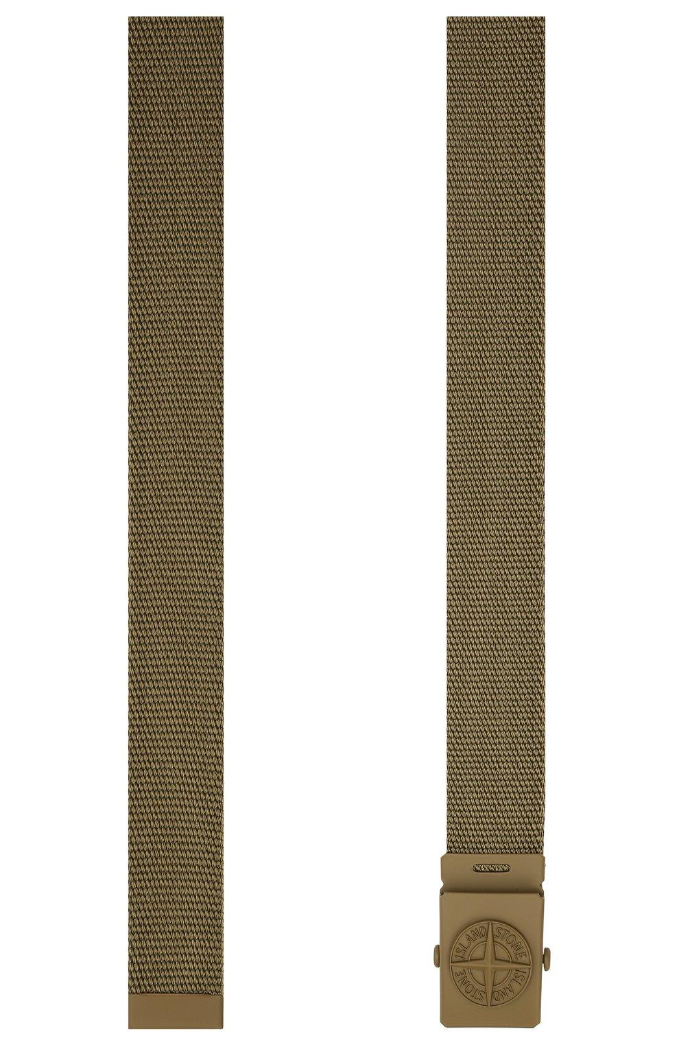 Детский ремень STONE ISLAND хаки цвета, арт. 741690461 | Фото 2 (Материал: Текстиль, Синтетический материал)